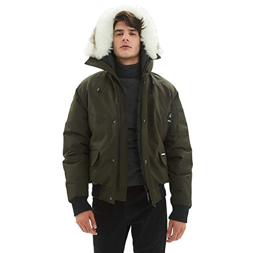PUREMSX Winter Military Flight Jacket, Thicken Padded for sale  Delivered anywhere in USA
