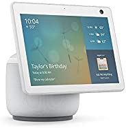Echo Show 10 (3rd Gen) | HD smart display with motion and Alexa | Glacier White