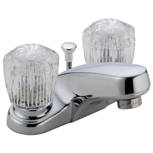 Delta 2522LF-MPU Bathroom Faucet, Two Handle, Chrome, Lead Free, 1.2 Gpm, 7.3 '' x  7 '' x  12''