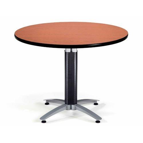 - OFM KMT42RD-CHY Round Multi-Purpose Table, Metal Mesh Base, 42