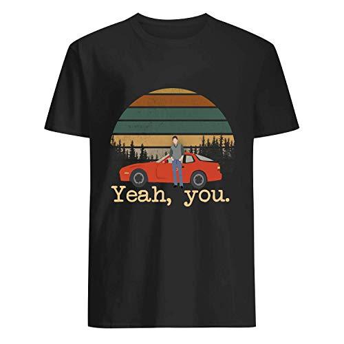 USA 80s TEE J.Ryan Yeah You Shirt Black ()