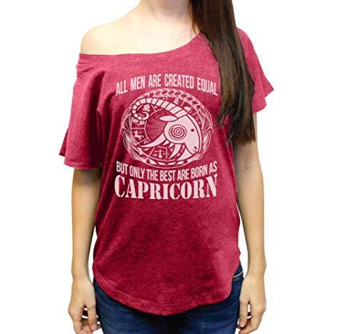 The Best are Born As Capricorn Wide Neck Women's Tri-Blend Dolman Tshirt