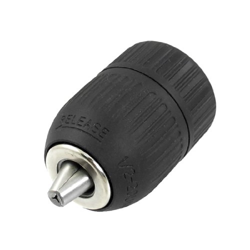 uxcell 1/2-20 UNF Mount 2-13mm Capacity Keyless Drill Chuck Black by uxcell (Image #2)