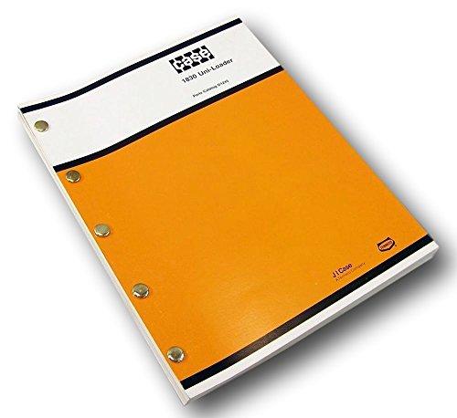 (Case 1830 Uni Loader Parts Manual Catalog Skid Steer Assembly Exploded Views)