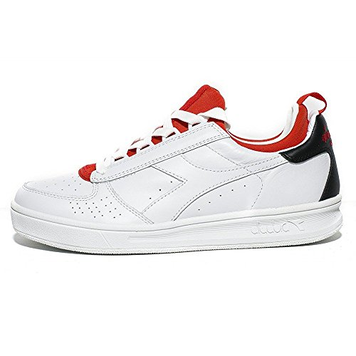 Diadora Heritage - B.Elite Socks Bianco/Rosso Ferrari Italia - Sneakers Hombre