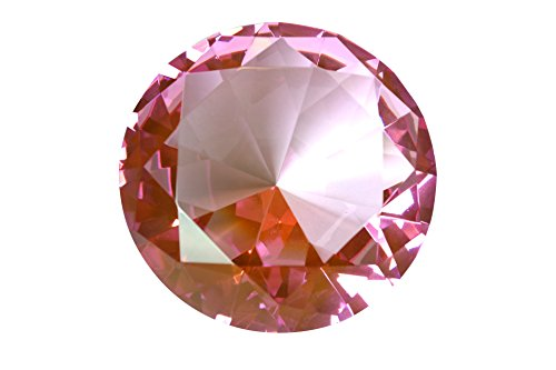 Tripact 100mm Pink Crystal Diamond Jewel Paperweight 4 Inch by Tripact Inc
