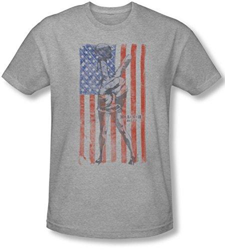 M*A*S*H - Mens Hang Em High Slim Fit T-Shirt, XX-Large, Athletic Heather