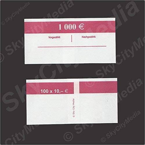 Fascette per banconote euro Je 50X (10& # x20AC; fascetta) Denaro fascetta di carta per denaro buendel capacità Je 100banconote SkyCityMedia