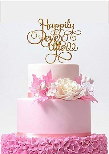 378e1165819 Image Unavailable. Image not available for. Color  Happily Ever After Cake  Topper Wedding ...