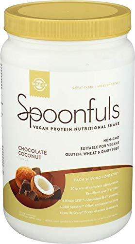 Solgar Spoonfuls Vegan Protein, Chocolate Coconut, 0.56 Pound, 25oz