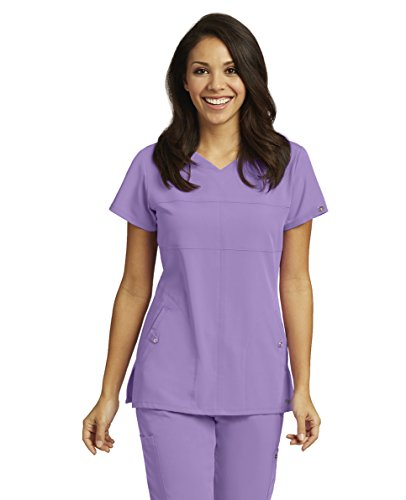 Grey's Anatomy Signature Women's 2120 2 Pocket Soft V-Neck Scrub Top- Violet Haze- (Greys Anatomy 2 Pocket)