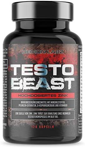 [Gesponsert]Testo Beast - Demon Labz - Enthält Zink, Aminosäuren, Maca & D-Asparaginsäure - Hochdosiertes Zink, trägt zur...