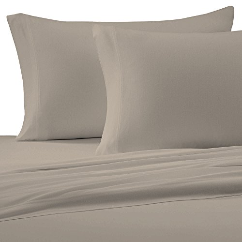 Brielle Cotton Jersey Knit (T-Shirt) Sheet Set, Queen, Linen