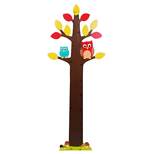 Fantasy Fields - Enchanted Woodland Thematic Kids Wooden Growth Chart | Imagination Inspiring Hand Painted Details | Non-Toxic, Lead Free Water-based (Lead Free Ships)