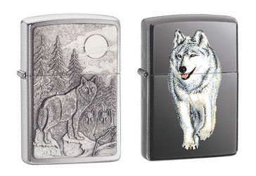 Zippo Brushed Chrome Timberwolves Emblem - 3