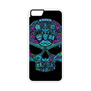 iPhone 6 Plus 5.5 Inch Cell Phone Case White Multi Color Skull BNY_6986970
