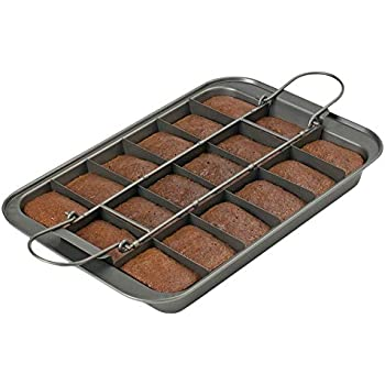 Amazon Com Perfect Brownie Pan Set Square Cake Pans