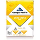 "Georgia-Pacific 150 Sheets 8.5"" x 11"", White Cardstock Paper, 110 lb"