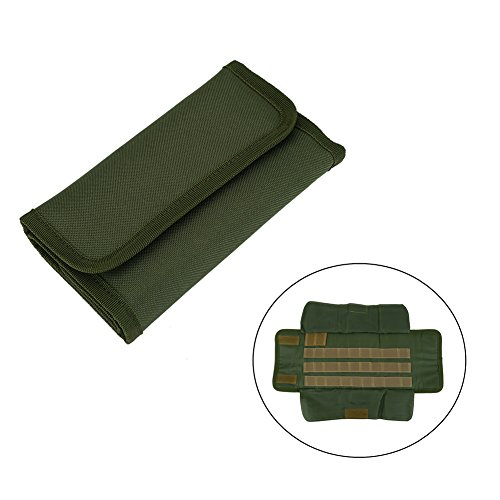 Fly Tying Tool Pouch Roll Up Fishing Accessory Case Nylon Artificial Lure Storage Bag Holder