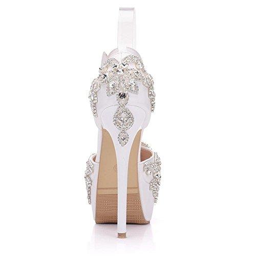 Tobillo Rhinestones Mujer Novia Boda De Lovely Gaihu Zapatos Vestido x4UCwqgPag