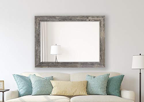 Hitchcock Butterfield Antique Weathered Grey Framed Coastal Wall Mirror, 23.75
