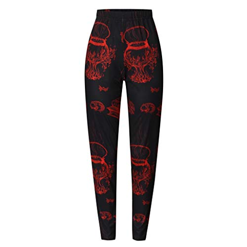 Bloody Girl Costumes (Goddesslili Womens Costumes Halloween, Sexy Mid Waist Leggings with Bloody Handprint Print for Ladies Girls Student Work Out Daily Party Wear, Style Ⅱ Gorgeous)