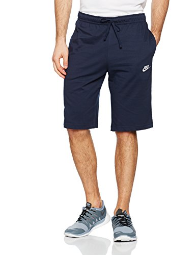 NIKE Men's Sportswear Jersey Club Shorts, Obsidian/White, - Club Athletic