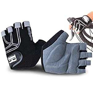 RIMSports Cycling Gloves for Men & Women, Reflective Bike Gloves for Day & Night Riding, Ideal Mountain Biking Gloves…