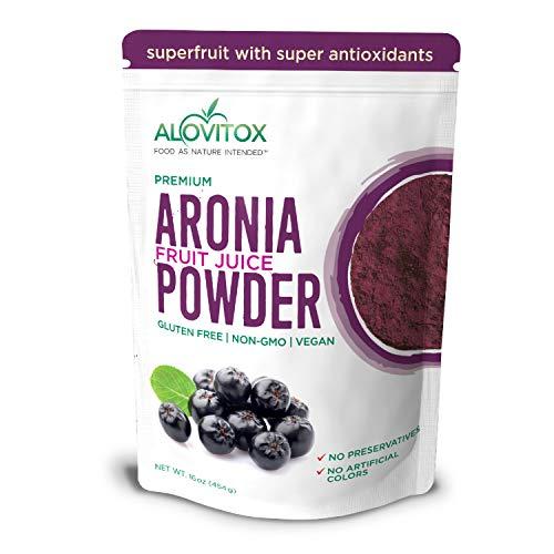 Alovitox Aronia Juice Powder | Antioxidant Dense Superfood Naturally Containing Dietary Fiber, Vitamins A, K, C, and E…