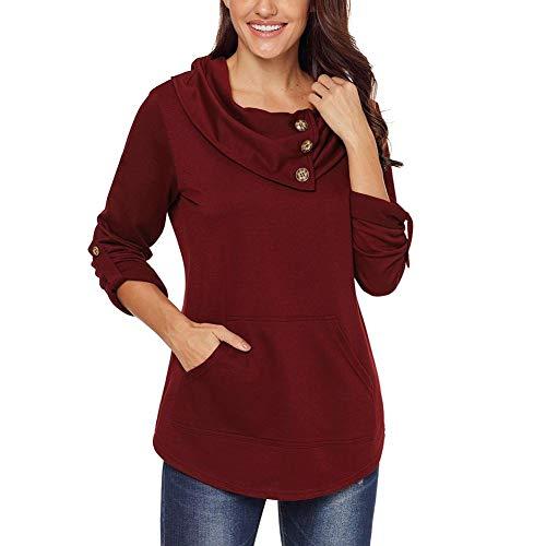 連鎖同情とにかくLà Vestmon 女性のソリッドカラースウェットレディーススウェットジャケットコートセーター、女性のロングスリーブトップロングスリーブスウェットシャツ