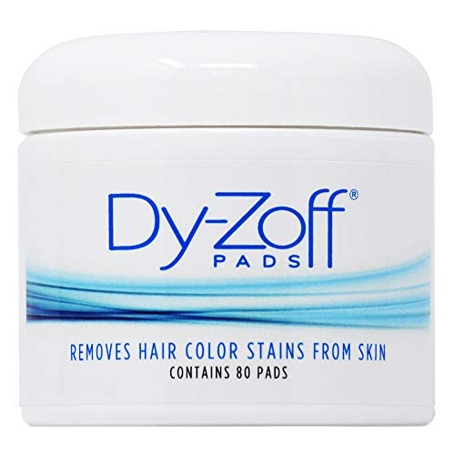King Research DyZoff Pads Hair Color Rinse and Tint Stain Remover Jar 80 pads (B4 Hair Colour Remover Before And After)