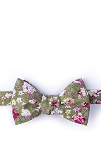 Morris Olive Cotton Butterfly Bow (Wild Ties Olive)
