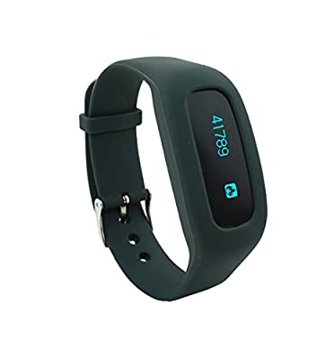 New Low Price! BEACHBORN FIT 4.0 Apple and Android Bluetooth OLED J Style Walking Pedometer Activity Tracker with FREE Belt Clip Holster (Black)