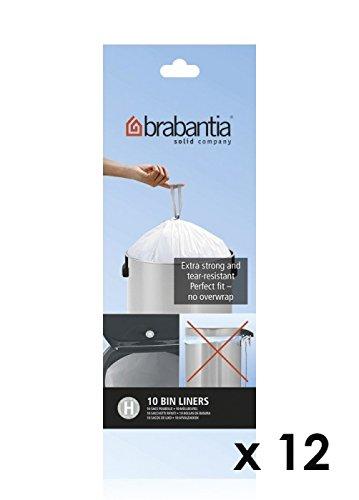 Brabantia 246784 - Lote de 12 rollos de 10 bolsas de basura ...