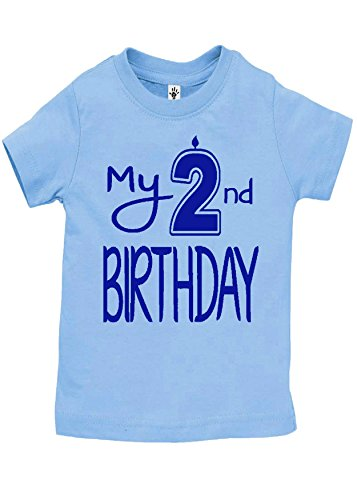 Aiden's Corner Boy's My 2nd Birthday Shirts Handmade Clothes | Second Birthday Outfit (Royal-Lt Blue, 24 Months) ()