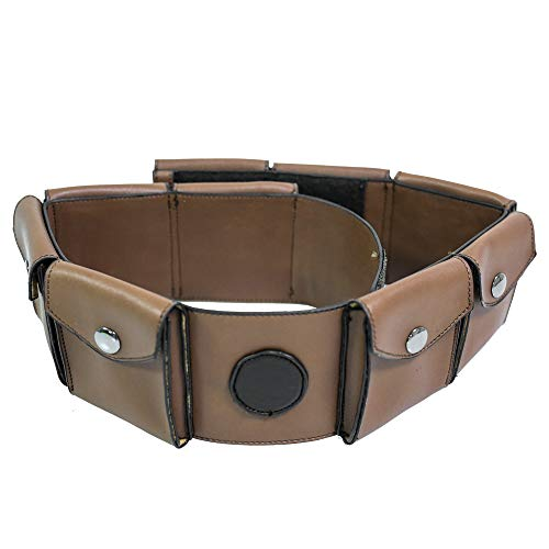 Carton Kim Cosplay Belt Waist Bag Set PU Leather Brown Halloween Props -