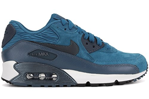 Blau Laufschuhe Damen Nike 90 Leather Air Max nCYTxqwa4