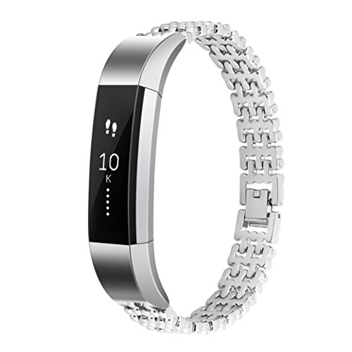 For Fitbit Alta Smart Watch ,Binmer(TM) Stainless Steel Watch Band Wrist strap (Silver) by Binmer(TM)