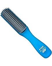 Kent Brushes Airhedz Glo Flat Detangling Hair Brush, Aqua Blue