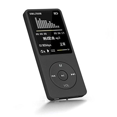 Cebbay 70 Horas de reproducci/ón MP3 MP4 Sin p/érdida de Sonido Reproductor de m/úsica Grabadora de FM Tarjeta TF Negro