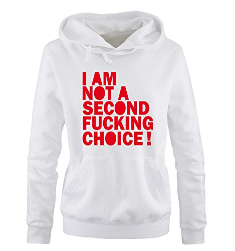 Fucking Second Not Rosso Taglia S Cappuccio Comedy Bianco Choice Am Shirts A Hoodie Sweater Donna Xl I TawXY