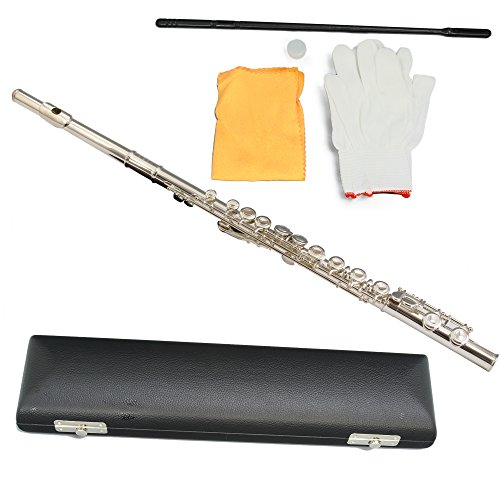 Conductor Nickel Plated Flute - Series II with Wooden Case and Accessories by Conductor