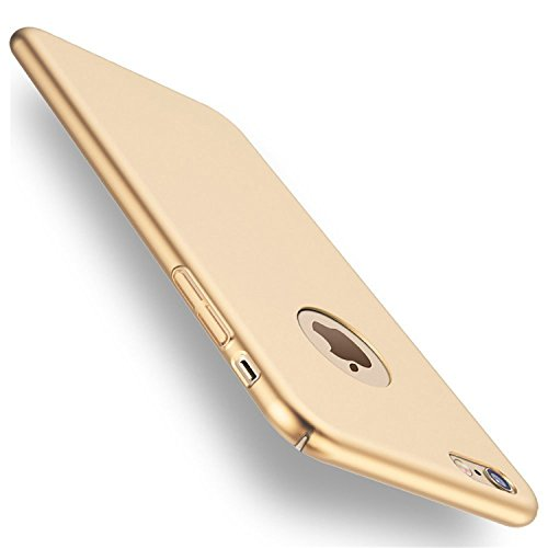 Case Compatible with iPhone 6s Plus, Ultra-Thin Hard Matte Shockproof Electroplate Cover Skin Stylish Anti-Scratch for iPhone 6plus/6s Plus 5.5 (Gold)