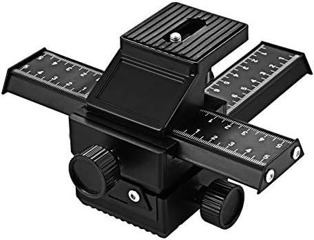 Value-5-Star Aluminum Alloy Macro Focusing Rail Slider Close-up Shooting Tripod Head for DSLR Camera