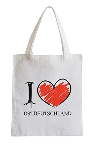 Amo Germania Est Fun sacchetto di iuta