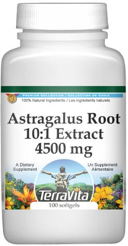 Extra Strength Astragalus Root 10:1 Extract - 450 mg (100 capsules, ZIN