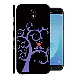 ColorKing Samsung J7 Pro 2017 Case Shell Cover - Tree Birds Multi Color