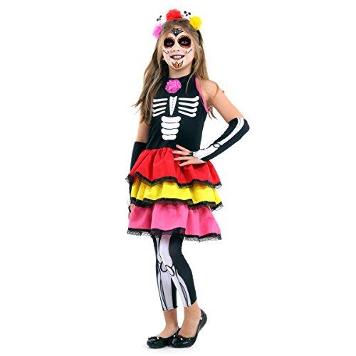 Caveira Mexicana Colour Infantil Sulamericana Fantasias P 3/4 Anos