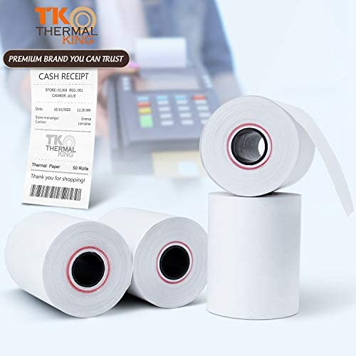 "TK Thermal King, 2 1/4"" x 85 feet Thermal Paper, 50 Rolls [TK Thermal King Brand]"