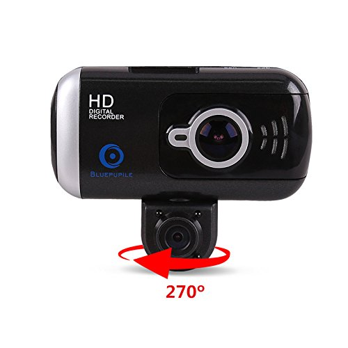 bluepupile 3 0 dual dash cam with gps 1080p dashboard camera 170 view angle portable car dash. Black Bedroom Furniture Sets. Home Design Ideas